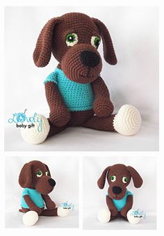 Amigurumi dog, crochet pattern, häkelanleitung, haakpatroon, hæklet mønster, modèle crochet