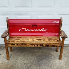 I turned the tailgate of my first truck into a bench.