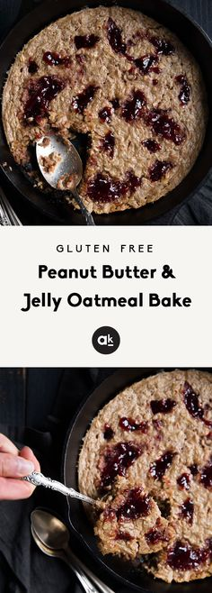 Easy to make peanut butter and jelly oatmeal bake that's naturally gluten free and dairy free. The perfect way to enjoy a childhood favorite for breakfast. Over protein per serving. Great for meal prep! Brunch Recipes, Breakfast Recipes, Breakfast Ideas, Breakfast Snacks, Snack Recipes, Dinner Recipes, Gluten Free Peanut Butter, Baked Oatmeal, Protein Oatmeal