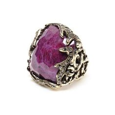 PINTALDI MAURIZIO Ruby And Black Diamond Ring ($29,910) ❤ liked on Polyvore