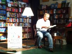 Peter Heller reading from THE PAINTER last night, author of Square Books favorite THE DOG STARS. Plenty of signed copies of THE PAINTER left in stock.