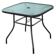 hampton bay edington open cast 40 in square patio dining table rh pinterest co uk