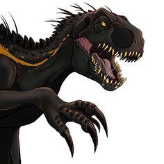 Blue Jurassic World, Jurassic World Dinosaurs, Jurassic World Fallen Kingdom, Dinosaur Drawing, Dinosaur Art, Mythical Creatures Art, Prehistoric Creatures, Indominus Rex, Falling Kingdoms