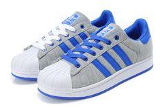 Adidas Superstar Shoes Blue Grey