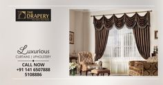 and Homefurnishings should complement each other. Now get the new range of Curtains & for giving an elegant look to your home decor. Call now 5108886 Drapery, Valance Curtains, Buy Curtains Online, Home Furnishings, Upholstery, Range, Elegant, Luxury, Home Decor