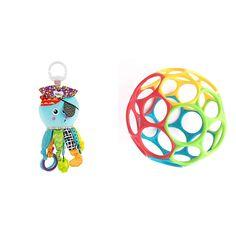 TOMY Clip /& Go Captain Calamari Piratenkrake Baby Spielzeug Greifling Rassel