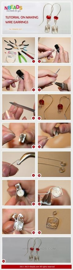Tutorial on making wire earrings by jsanto