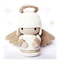 RoKiKi Crochet Angel Kokeshi Doll