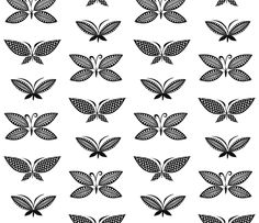 Butterfly Tapa fabric by spellstone on Spoonflower - custom fabric