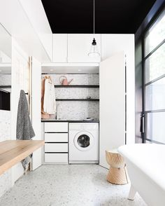 """398 Likes, 6 Comments - Scandinavian Colour + Design (@designstuff_group) on Instagram: """"// Concealed Laundry Design by Sally Holbrook @the_northbourne_effect. As LOVELY, as she is…"""""""