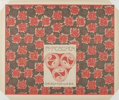"""""""Red Berries"""" design for silk fabric from the portfolio """"Surface Decoration"""", 1902, by Koloman Moser (1868-1918)"""