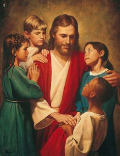 Picture- Jesus surrounded by children