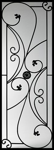 Wrought Iron Door Inserts - Autumn 22x64