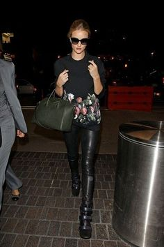 Rosie Huntington-Whiteley - leather leggings