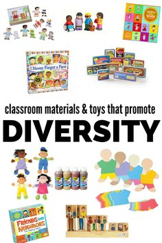 Diverse toys for kids - toys that promote anti-bias education. Great preschool materials that help you build and create a diverse classroom.