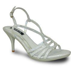VANGELO Women Sandal ABBEY-2 Heel Party Prom & Wedding Sandal Silver – LA Juno Juno