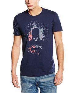 DC Comics Batman Bat Splash - Camiseta manga corta para hombre, color navy blue, talla 2XL #camiseta #starwars #marvel #gift