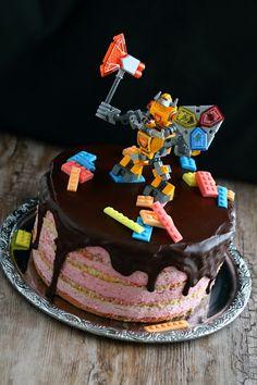 Suklaapossu: Lego nexo knight, Axl -kakku