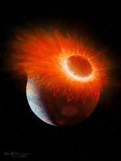 A study led by a team from UCLA has shown that rocks from the Earth and Moon contain an identical mixture of oxygen isotopes, suggesting that both worlds formed from a head-on collision between ancient Solar System bodies.