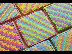 Chocolate Hazelnut Tart with Chocolate Mousse - Shugary Sweets no bake cookies Cookie Bars How To Make A Marbled Icing Design on a Cookie De. Galletas Cookies, Iced Cookies, Sugar Cookies, Cupcakes, Cupcake Cookies, Easter Cookies, Christmas Cookies, Cookie Icing, Royal Icing Cookies