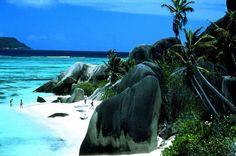 Seychelles, off the coast of East Africa -- So beautiful. Bucket list and my future honeymoon destination.