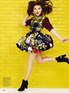 Seventeen featuring our Pia Poof Full Skirt on Chloe Moretz! Seventeen Magazine, Instyle Magazine, Chloe Grace Moretz, Georgia, Joey King, Selena Gomez, Celebs, Female Celebrities, Fashion Outfits