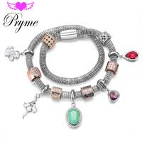 2016 Pryme Fashion Endless Charms Bracelets DIY Jewelry 39CM Stainless Steel…