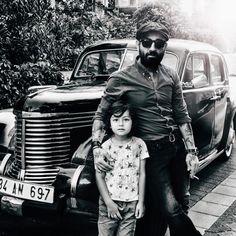 the car (and the beard)