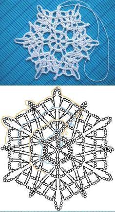 Dinha Ponto Cruz: Receita de Flocos de neve em crochê                                                                                                                                                      Mais