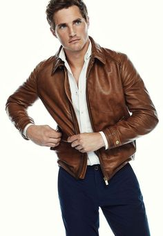 Jackets For Stylish Men. Jackets really are a very important part of every man's set of clothing. Men need outdoor jackets for a number of circumstances as well as some climate conditions. Brown Leather Jacket Men, Tan Leather Jackets, Leather Jacket Outfits, Vintage Leather Jacket, Leather Men, Cool Jackets For Men, Stylish Men, Men Casual, Zara
