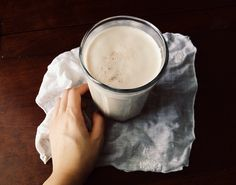 Ashwagandha Maple Walnut Milk ( #vegan   #glutenfree)  a warming drink that is good for brain & hearth health. Walnuts contain omega fats & alpha linoleic acid. Depending on what maple syrup you use it can contain about 8% iron per serving but this milk does not end there as I also added Aswangandha root powder. Ashwangandha is an adaptogen herb that calms the nervous system resisting physical & mental stress, and support cognitive function.