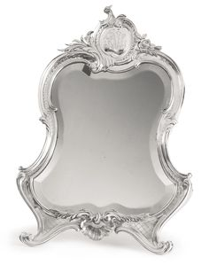 Faberge Silver Dressing Table Mirror, Moscow, c 1895