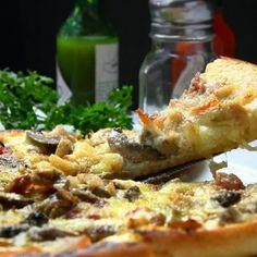 Receita de Pizza com massa de batata