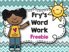 Free, Sight Word Activities, Frys, word work. NO PREPSight Word Activities Frys Word Work NO PREP FreebieThese words are from my Frys First 100 Words No Prep Word Work unit.  You can see that unit here:FrysFirst100WordsNoPrepWordWork.The words included in this freebie are:  the, you, that, was, are, with, they.Thanks for taking the time to check out this free download!Free, Sight Word Activities, Frys, NO PREP.Other Frys units…