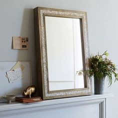 Parsons Wall Mirror - Mother of Pearl #westelm