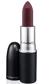 MAC lipstick in Dark Side. Been dying to buy a dark oxblood color like this for fall!