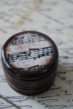 Sheet Music Pill Box