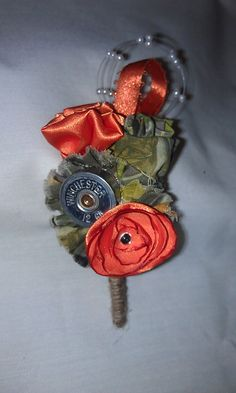 SALE Shotgun Shell/ Camo Boutonniere by DenimandMe on Etsy, $8.50