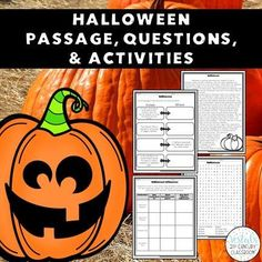Halloween ELA Activities comes with 7 activities to help students review reading and writing skills as they learn about the history of Halloween! #vestals21stcenturyclassroom#halloween#halloweenactivities#halloweenactivitiesfortheclassroom#halloweenpassages