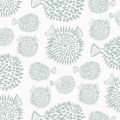 Wallpaper - Blowfish | Agave - Peel & Stick / 2 x 8' panel