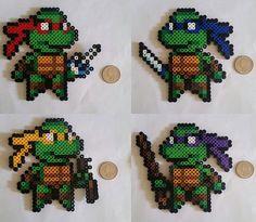 Ninja Turtle Perler Beads von BeadsNWreaths auf Etsy