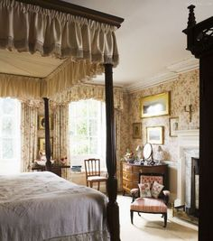 fabric is lovely! | Bedrooms | Pinterest
