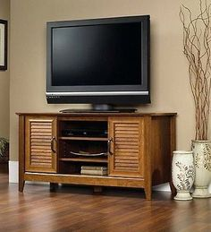 TV Stand Entertainment Center Flat Screen Solid Wood Furniture 47 inch - EXCLUSIVE DEAL! BUY NOW ONLY $108.0