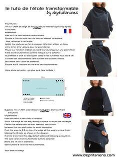 jpg 1 200 × 1 600 pixels poncho z guzikami szal Diy Couture, Couture Sewing, Couture Tops, Diy Clothing, Sewing Clothes, Convertible Clothing, Diy Vetement, Modelista, Creation Couture