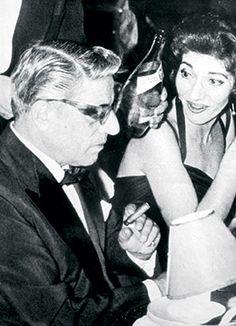 Maria Callas and Aristotele Onassis.