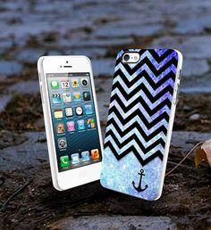 chevron anchor blue glitter iPhone 4/4s/5/5s/5c, Samsung Galaxy s3/s4 – Sopive