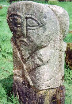 Celtic Janus  Stone carving, pre-Christian period  Boa Island on Upper Lough Erne, Ireland