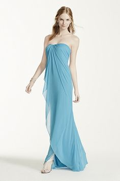 MORE COLORS Long Strapless Mesh Dress Style W10484 Online $159.00 $99.99
