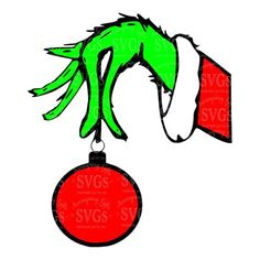 Image result for grinch hand holding ornament clipart