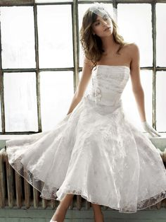 Tea length wedding dress! What do you think...something you would do?